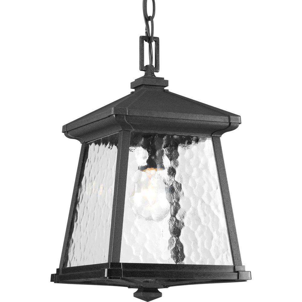 Mac Collection 1-Light Black Outdoor Hanging Lantern