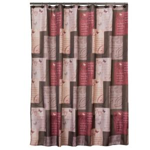 Saturday Knight Grace 72 inch Red Shower Curtain by Saturday Knight