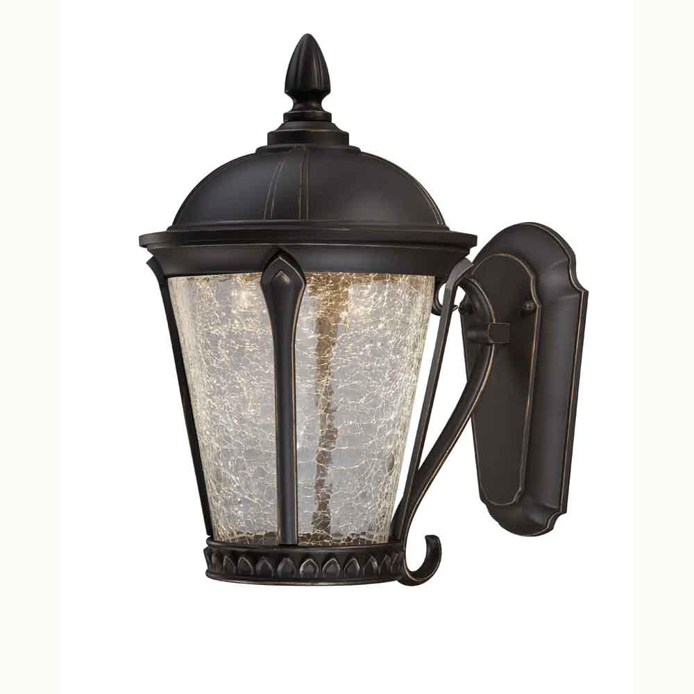 Home Decorators Collection Cottrell Aged Bronze Patina Outdoor Led Powered Wall Lantern Hb7051pa