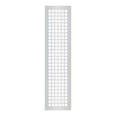 Square Series 30 in. x 6 in. Steel Grille, Gray with Mounting Holes