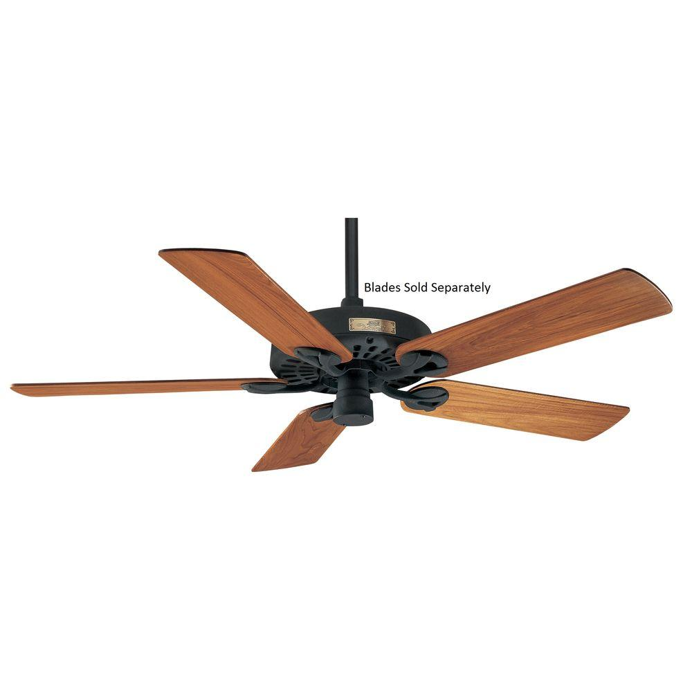 Hunter Original 52 in. Textured Black Damp Rated Ceiling Fan