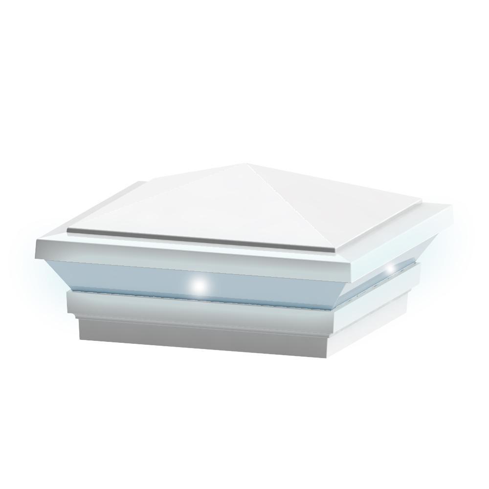 Pinnacle LED Post Top in Satin White