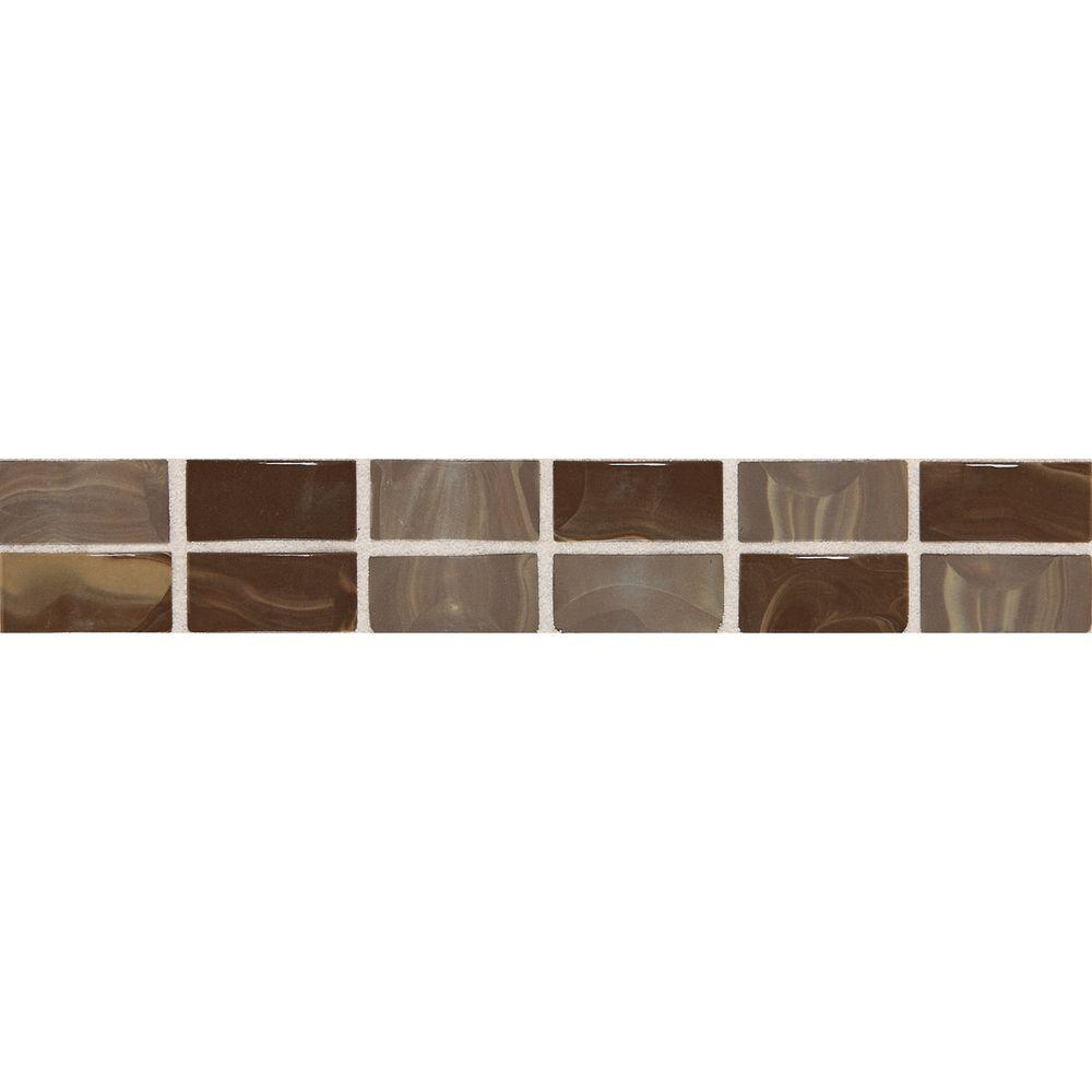 Daltile fashion accents noce swirl 2 in x 12 in ceramic decorative daltile fashion accents noce swirl 2 in x 12 in ceramic decorative accent wall tile f004212deco1p the home depot dailygadgetfo Image collections