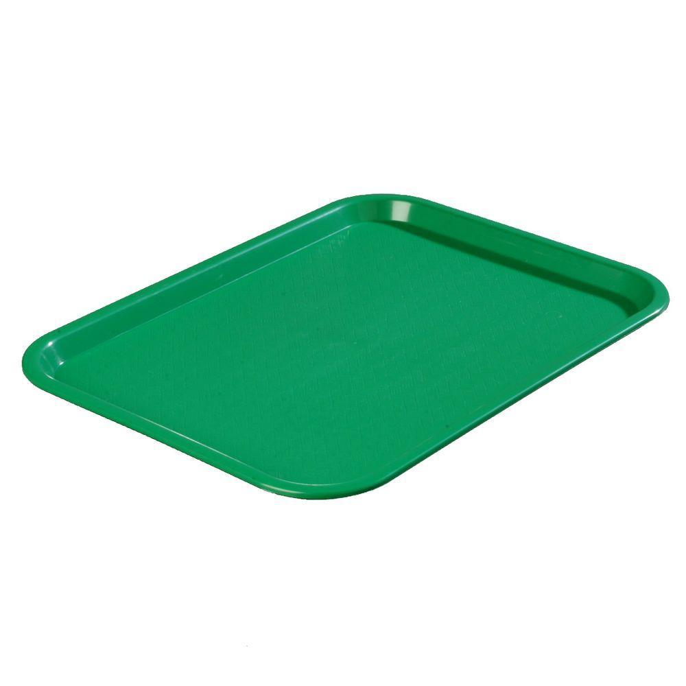 14 in. x 18 in. Polypropylene Tray in Green (Case of 12)