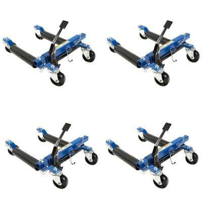 1500 lb. 12 in. Hydraulic Car Wheel Dolly (4-Pack)