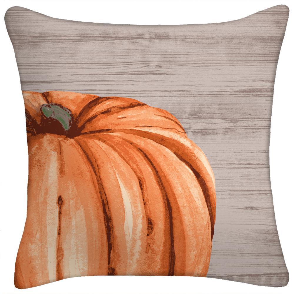18 in. x 18 in. x 5 in. Harvest Pumpkin Toss Pillow