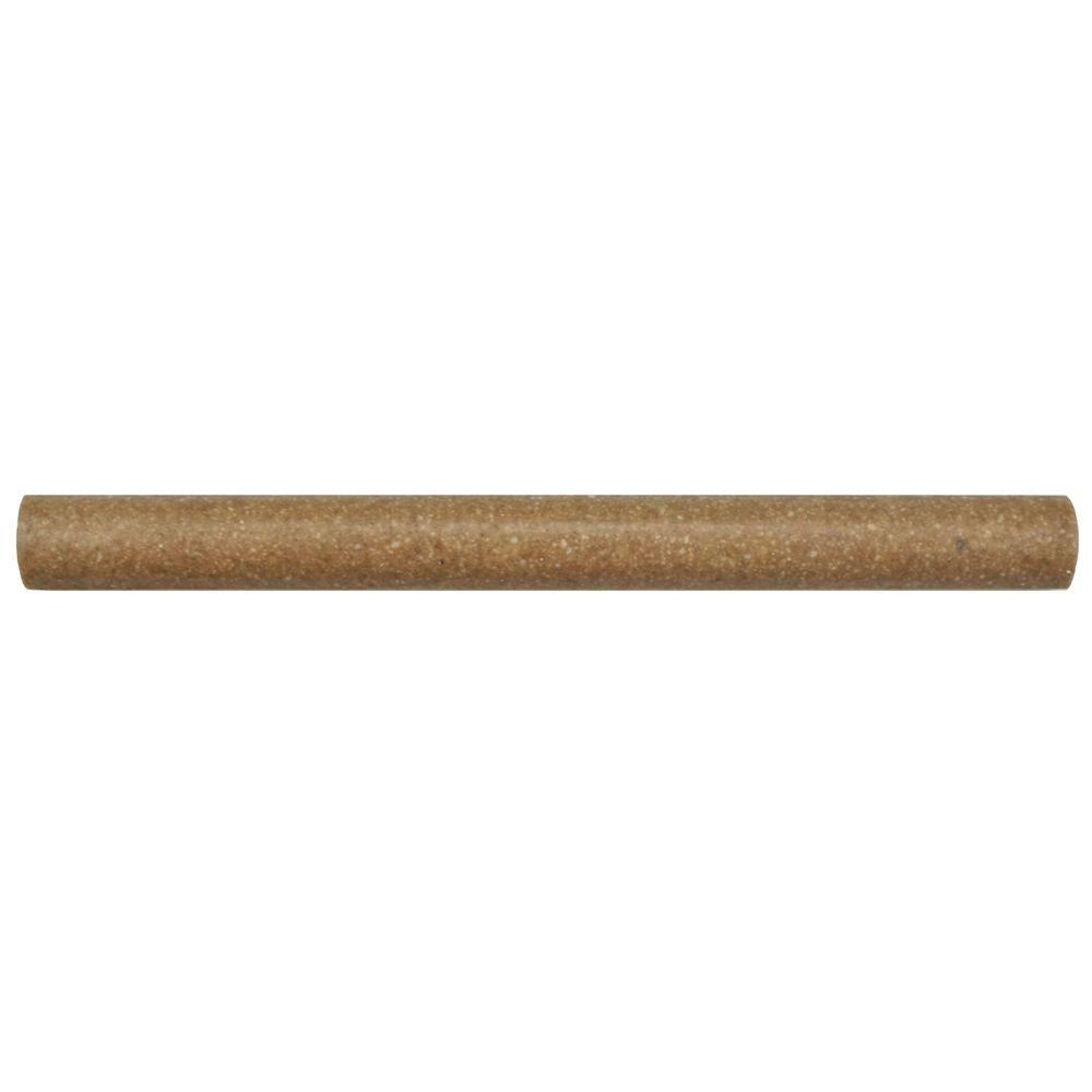 Merola Tile Contempo Noce Travertine Pencil 5/8 in. x 6 in. Wall Trim Tile