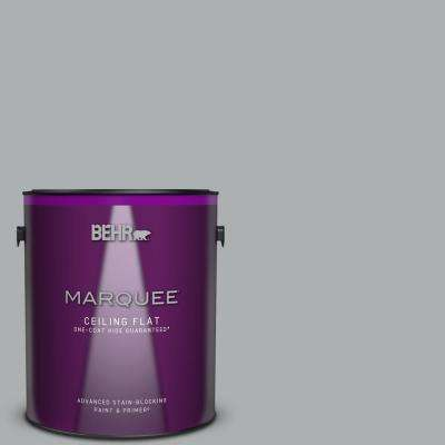 1 gal. #N500-3 Tin Foil One-Coat Hide Ceiling Flat Interior Paint and Primer in One