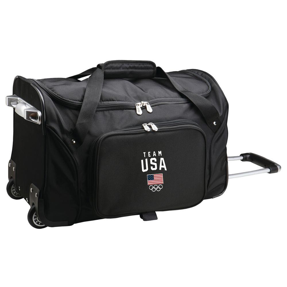 26a7f43546eb Olympics Team USA 22 in. Wheeled Duffel Nylon Bag in Black