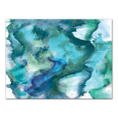 30 in. x 40 in. ''Watercolor Waves'' Printed Canvas Wall Art