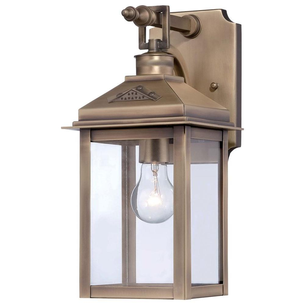 Eastbury 1-Light Colonial Brass Outdoor Wall Mount