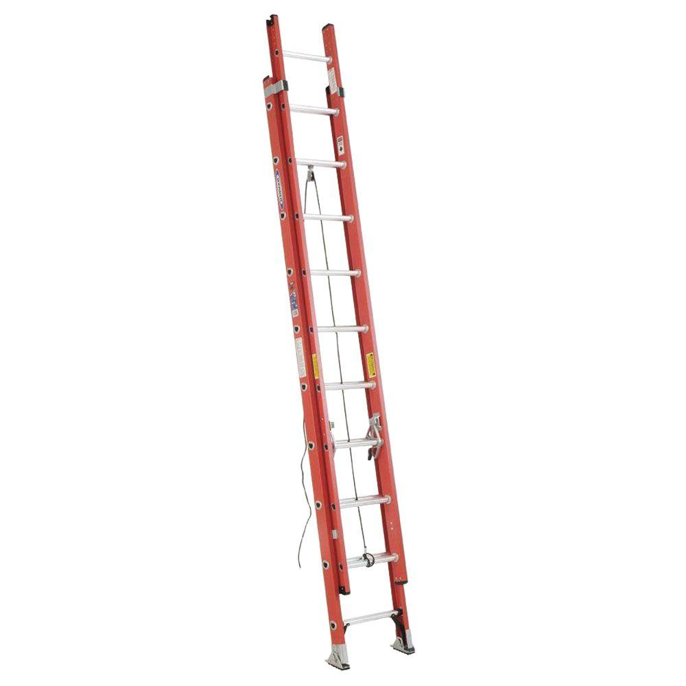 20 ft. Fiberglass Extension Ladder with 300 lb. Load Capacity Type
