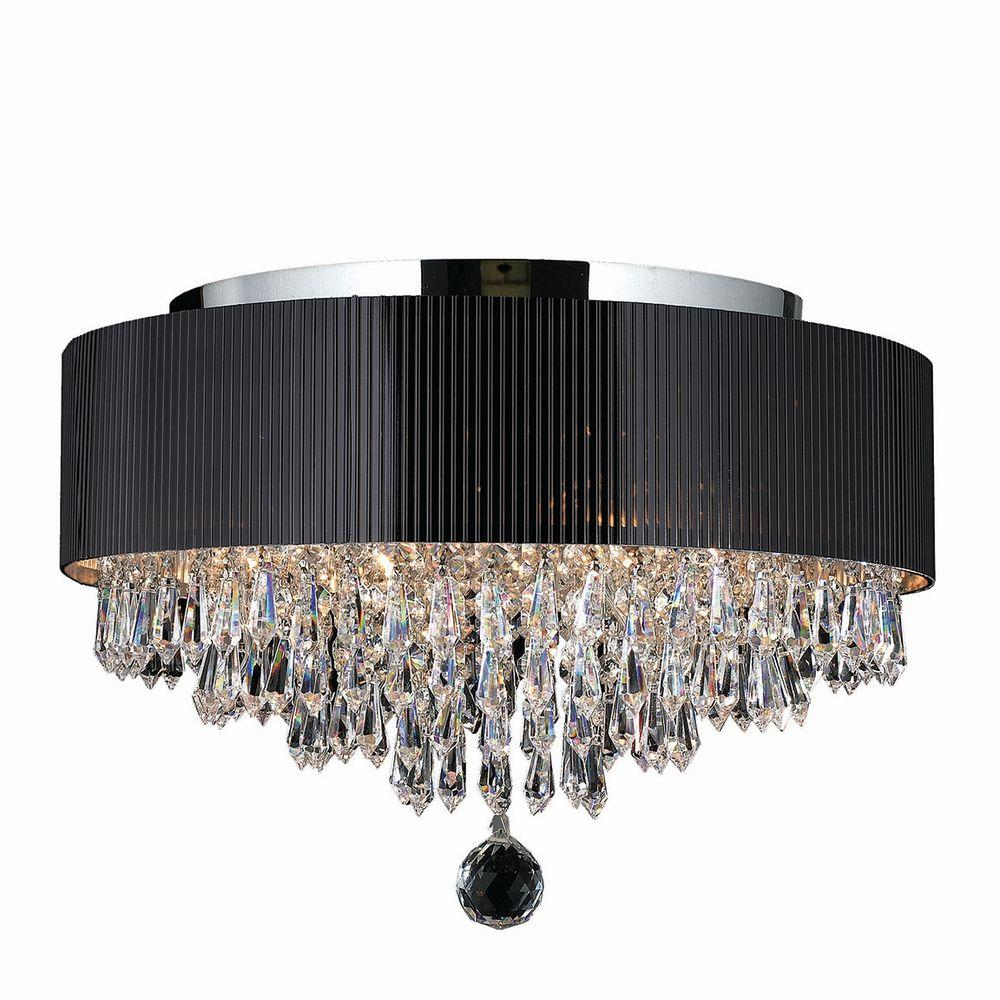 Worldwide lighting gatsby 4 light chrome flushmount with clear worldwide lighting gatsby 4 light chrome flushmount with clear crystal aloadofball Choice Image