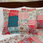 Lavish Home Mallory Red Polyester King Quilt