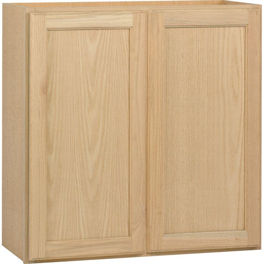 Wall Kitchen Cabinet In Unfinished Oak W3030ohd The Home Depot