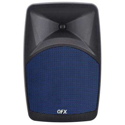 PBX-38 Elite Series Portable Bluetooth Speaker with 8 in. Woofer, FM Radio, Microphone Input and Remote Control in Blue
