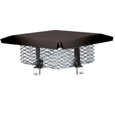 8 in. x 8 in. Galvanized Steel Adjustable Chimney Cap in Black