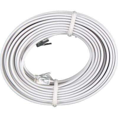 25 ft. Phone Line Cord - White