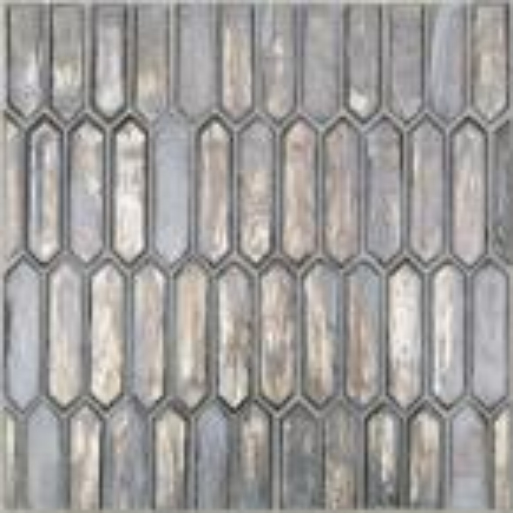 Fargin Silver Haze Elongated Hexagon 12 in. x 10 in. x 7mm Polished Glass Mosaic Tile (0.82 sq. ft.)