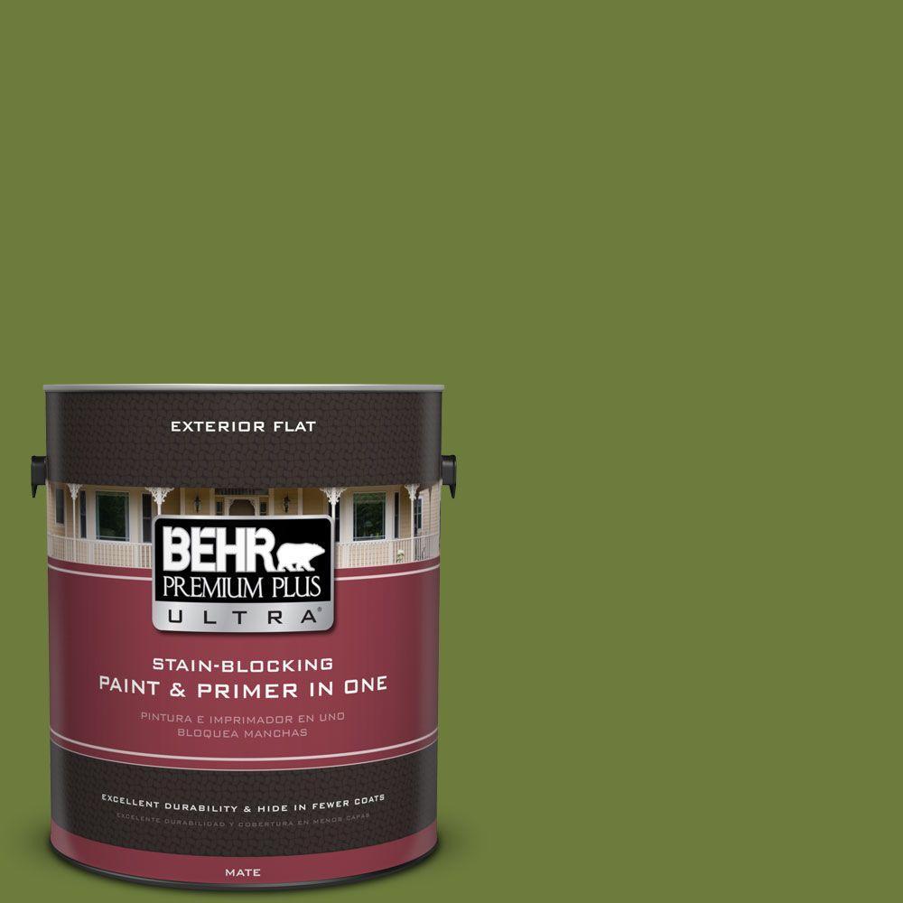 1 gal. #HDC-SM16-11 Hot Dog Relish Flat Exterior Paint