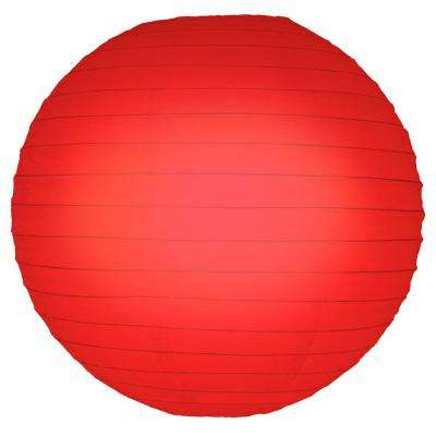 10 in. Red Round Paper Lanterns (5-Count)