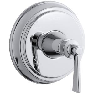 Archer 1-Handle Wall-Mount Tub and Shower Faucet Trim Kit in Polished Chrome (Valve Not Included)