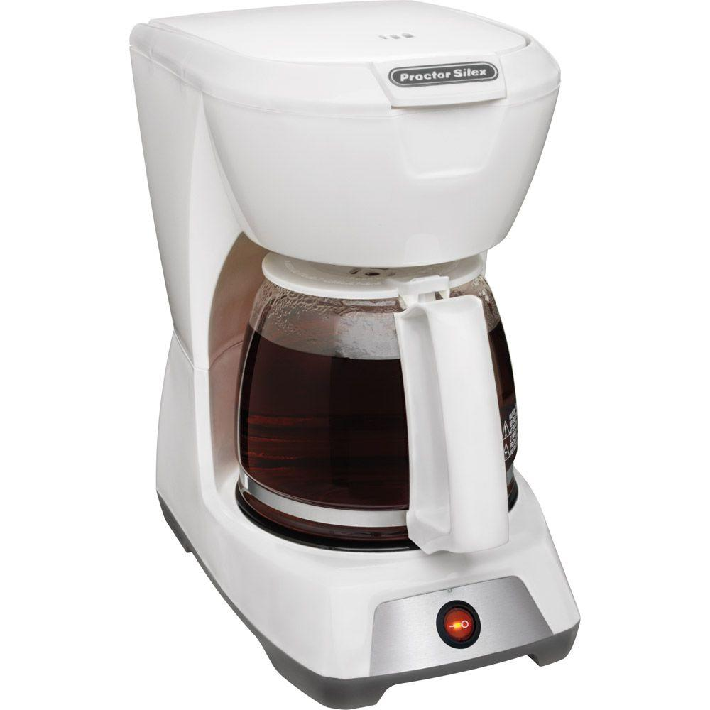 Proctor Silex 12-Cup Coffeemaker in White-DISCONTINUED