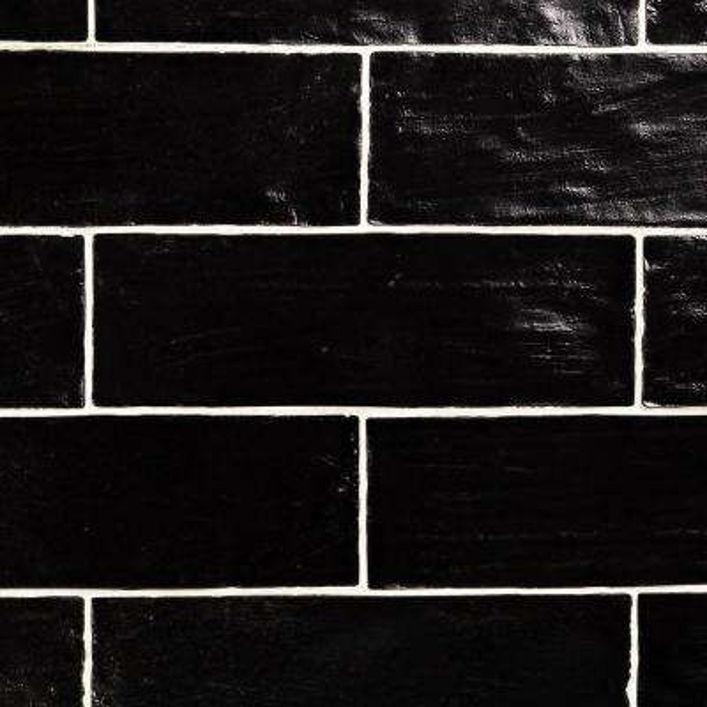 Amagansett Black 2 in. x 8 in. 9mm Satin Ceramic Wall Tile (10.76 sq. ft. / box)