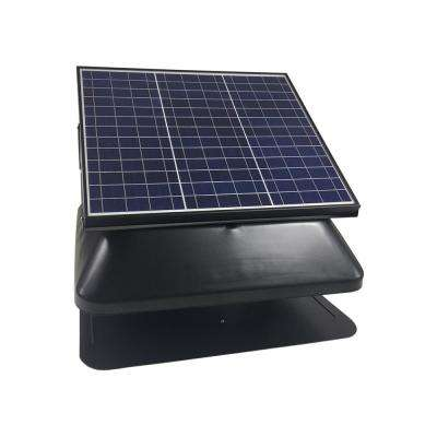 Solar Powered Roof Mount Adjustable Attic Fan with 30-Watt Polycrystalline Solar Panel