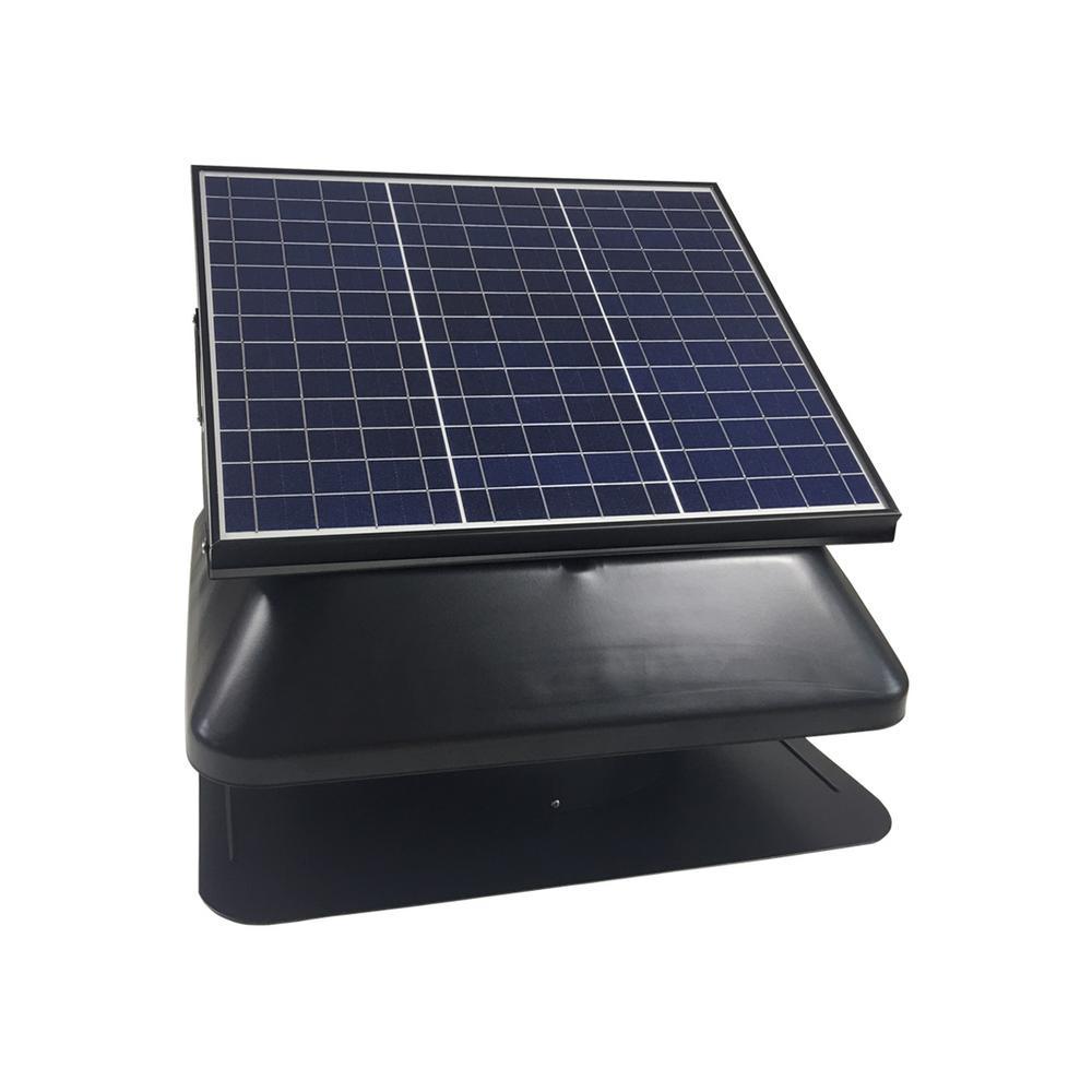 Solar Powered Roof Mount Adjustable Attic Fan with 30-Watt Polycrystalline Solar Panel