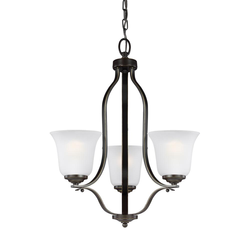 Emmons 3-Light Heirloom Bronze Chandelier