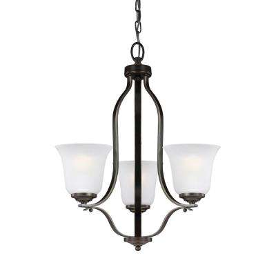 Emmons 3-Light Heirloom Bronze Chandelier with LED Bulbs