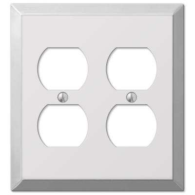 Steel 2 Duplex Wall Plate - Chrome
