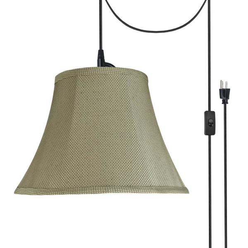Light Black Plug In Swag Pendant
