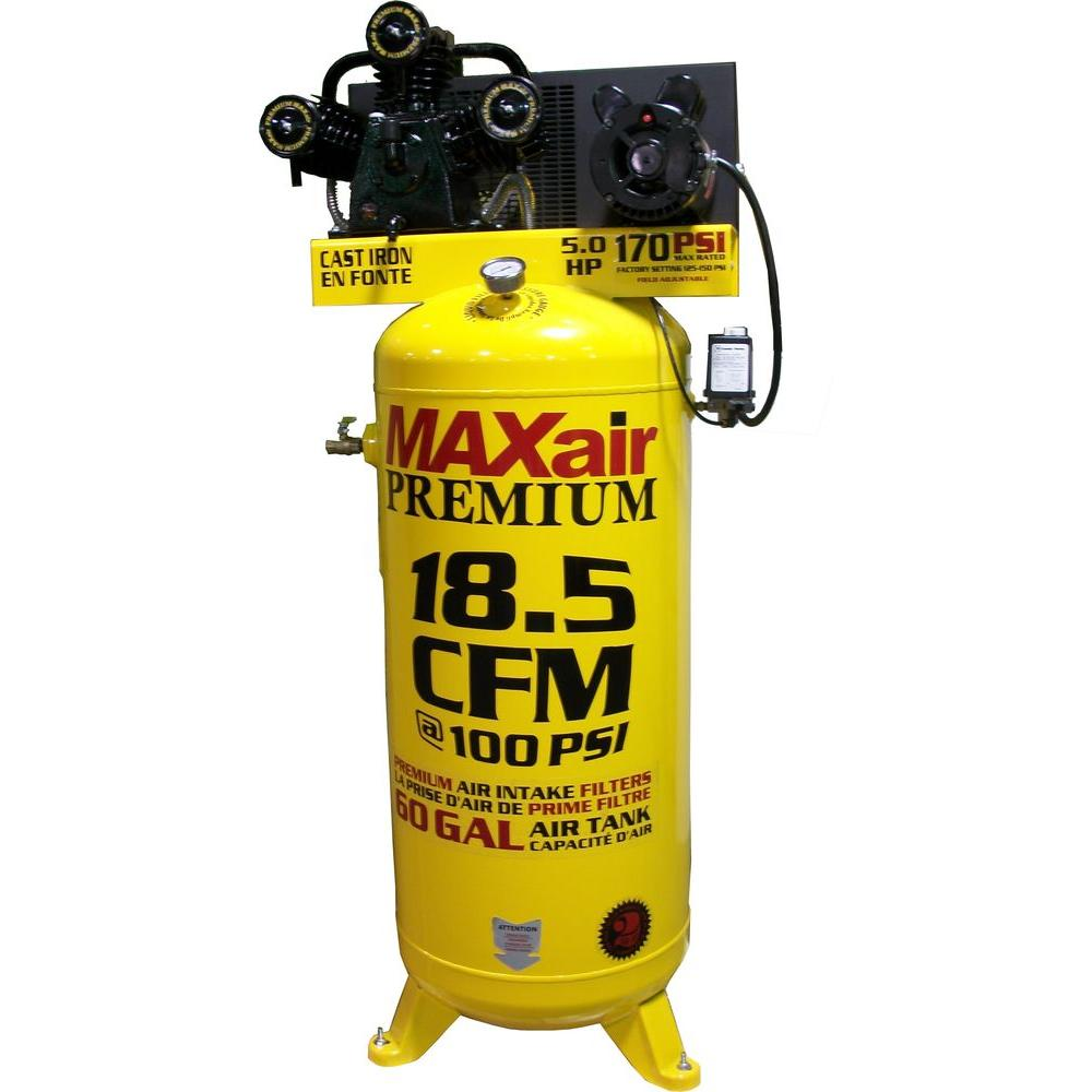 Maxair 60-Gal. Vertical, 208/230-Volt Electric Air Compressor