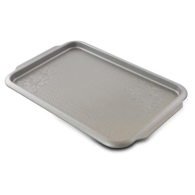 Country Kitchen Silver Embossed Carbon Steel 15 in. Cookie Sheet