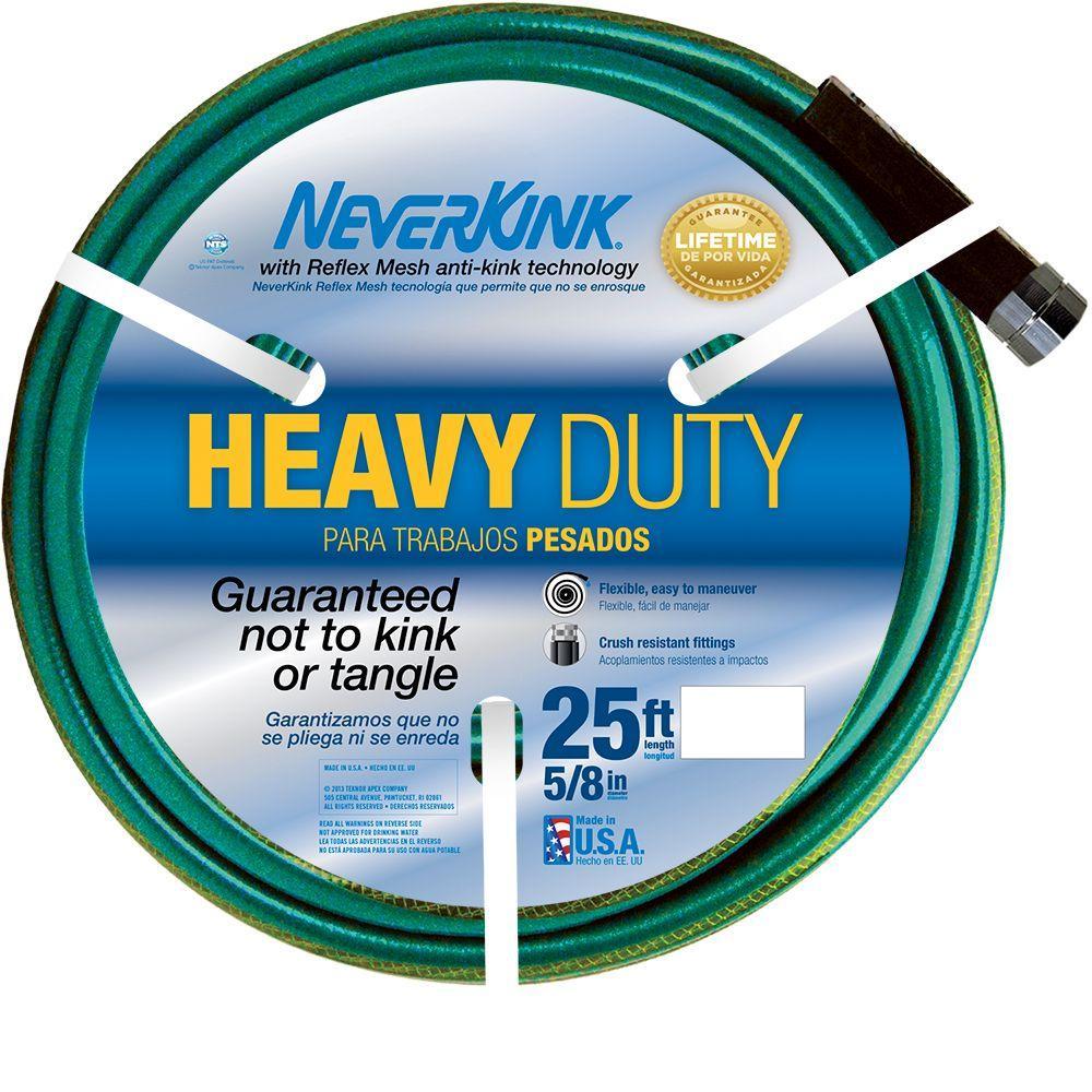 Neverkink 5/8 in. Dia x 25 ft. Heavy Duty Water Hose