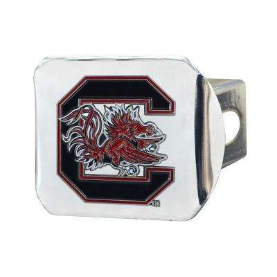 NCAA University of South Carolina Color Emblem on Chrome Hitch Cover