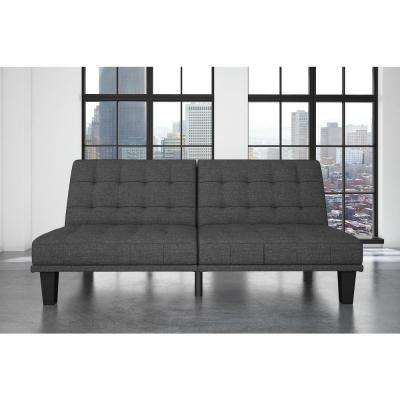 Dexter Gray Linen Futon and Lounger