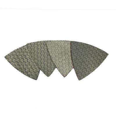 3 in. Triangle Shaped Diamond Polishing Pad (Set of 4)
