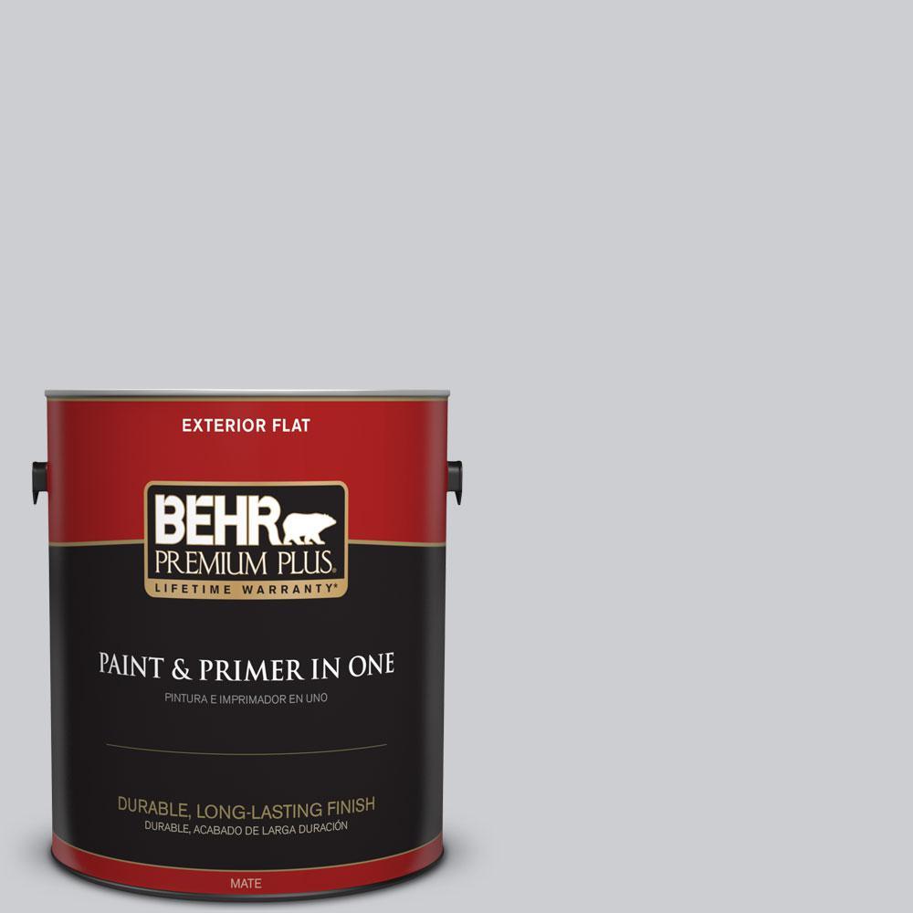 BEHR Premium Plus 1-gal. #760E-2 Manhattan Mist Flat Exterior Paint