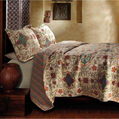Esprit 3-Piece Spice Full and Queen Quilt Set