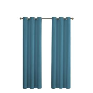 Blackout Microfiber 63 In L Pea Grommet Curtain