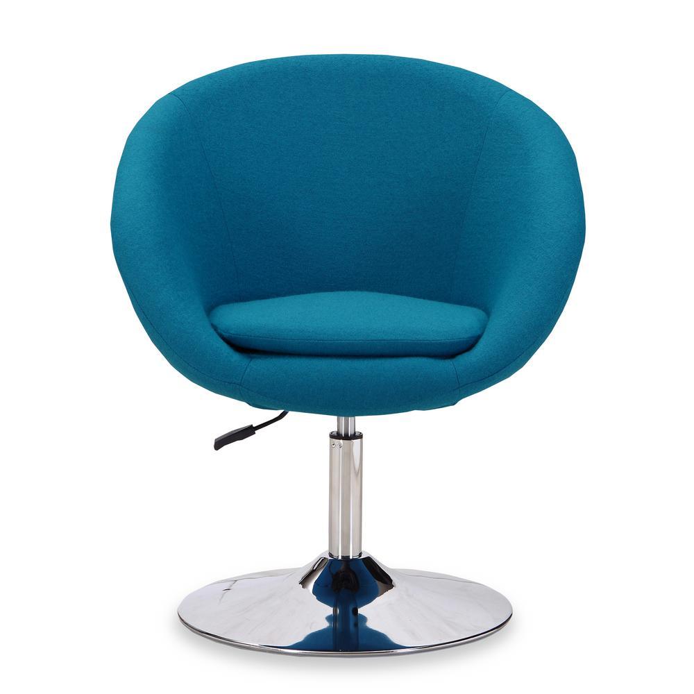 Hopper Blue Swivel Adjustable Height Chair