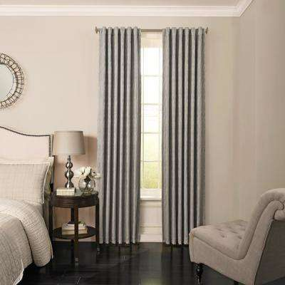 Barrou Blackout Window Curtain Panel in Smoke - 52 in. W x 63 in. L
