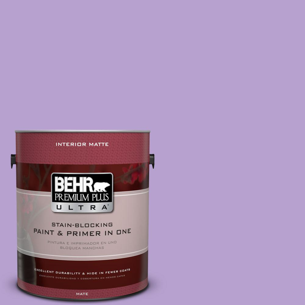 BEHR Premium Plus Ultra 1 gal. #P570-3 Flower Girl Matte Interior Paint