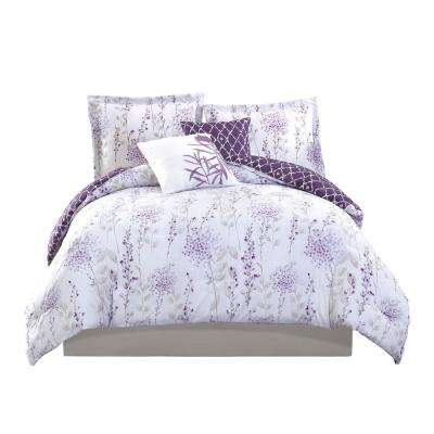 Studio 17 Fresh Meadow Purple 5-Piece King Comforter Set