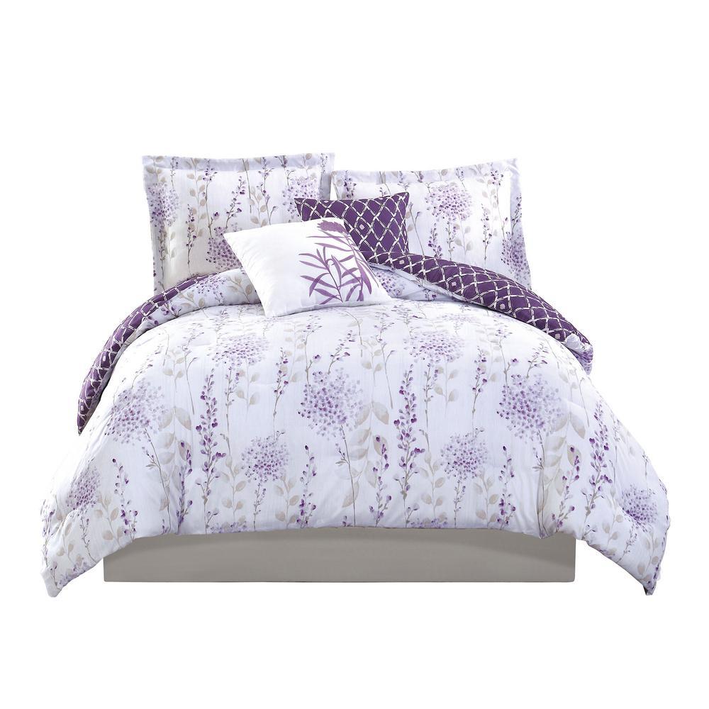 Studio 17 Fresh Meadow Purple 5-Piece King Comforter Set