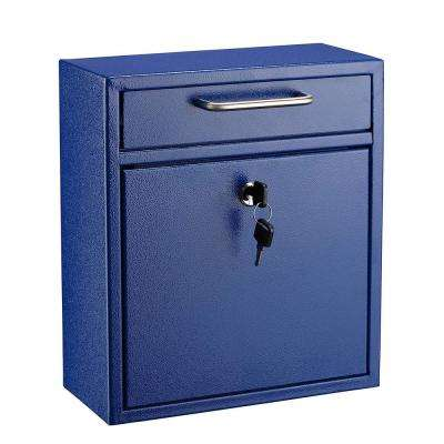Medium Ultimate Blue Wall Mounted Mail Box