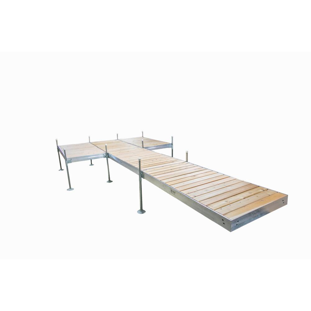 Tommy Docks 24 ft. L 8 ft. x 12 ft. Platform Style Aluminum Frame with Cedar Decking Complete Dock Package